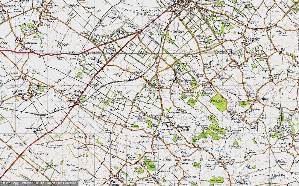Old Map of Historic Map covering Lingay Hill in 1946