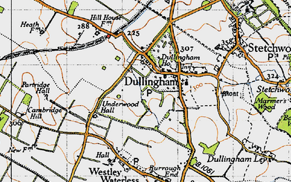Old map of Westley Bottom in 1946