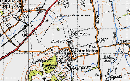 Old map of Dumbleton in 1946