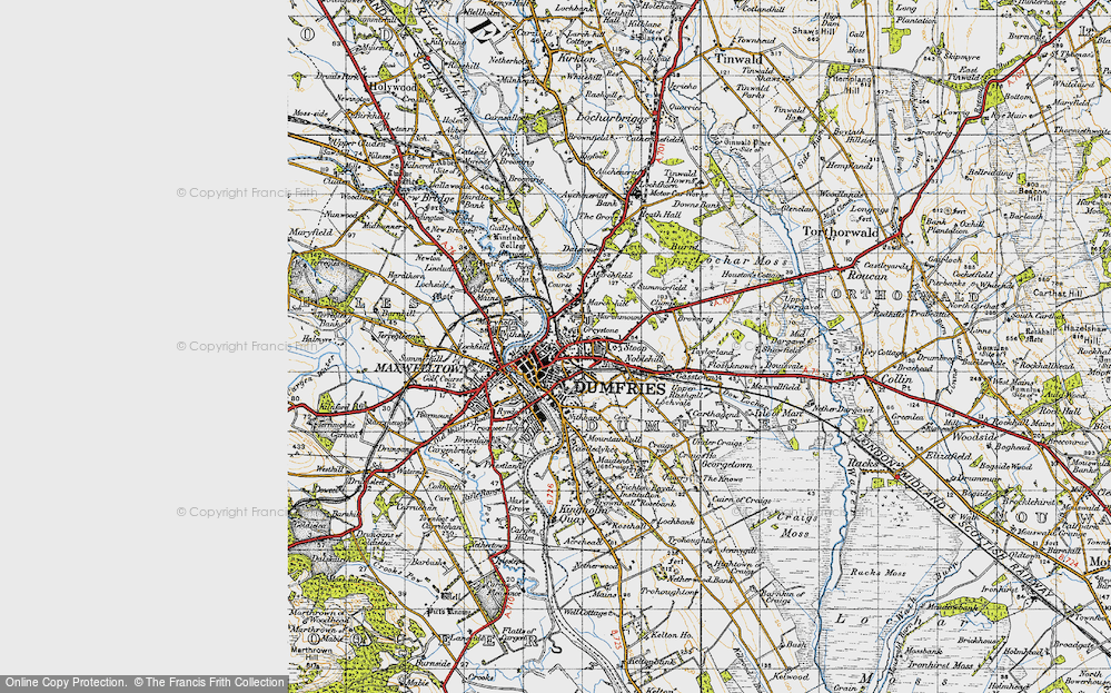 Old Map of Dumfries, 1947 in 1947