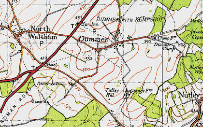 Old map of Tidley Hill in 1945