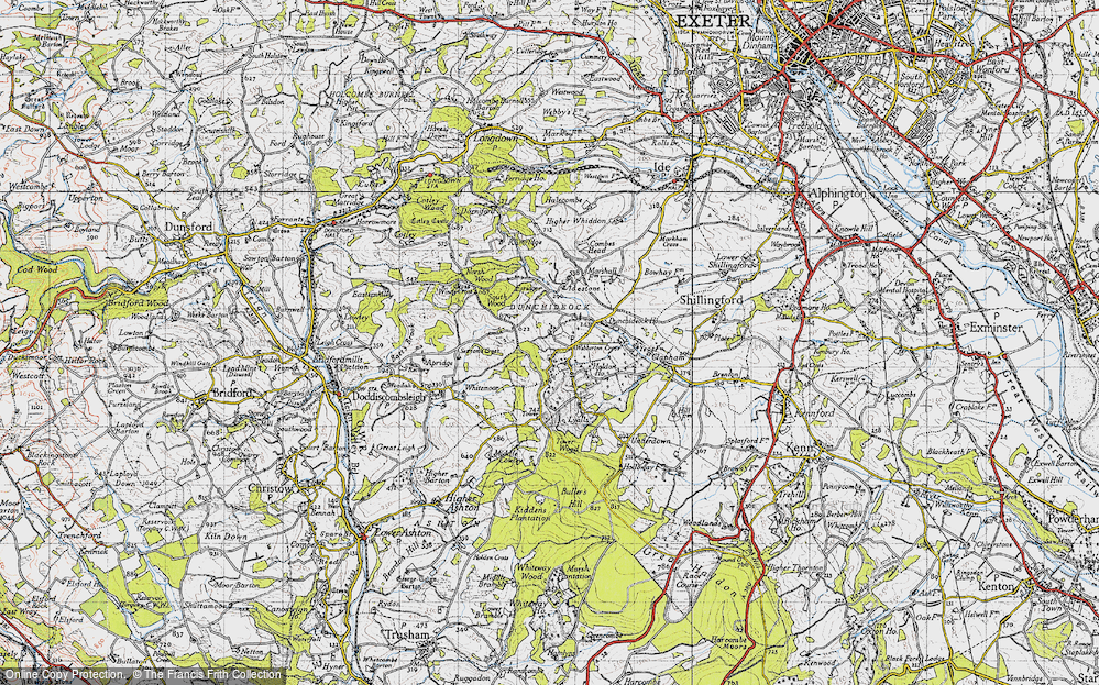 Old Map of Historic Map covering Lawrence Castle in 1946