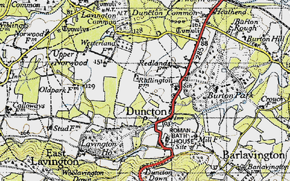 Old map of Duncton in 1940