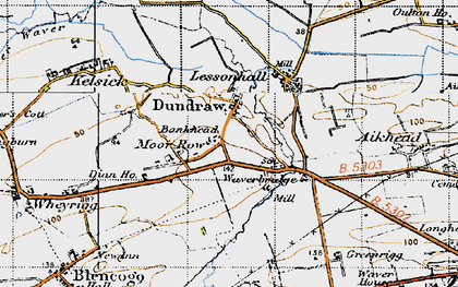 Old map of Bankhead in 1947