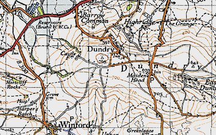 Old map of Dundry in 1946
