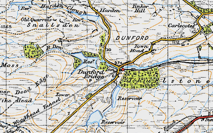 Old map of Winscar Resr in 1947