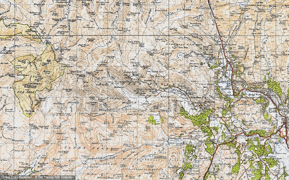 Old Map of Historic Map covering Band, The in 1947