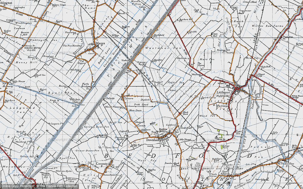 Old Map of Dunkirk, 1946 in 1946