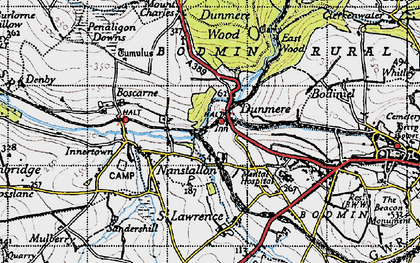 Old map of Dunmere in 1946