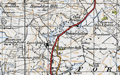 Old map of Limy Water in 1947