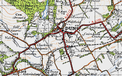 Old map of Langton Burn in 1947