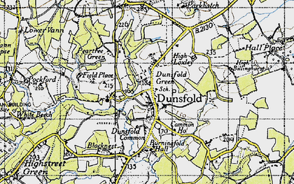 Old map of Dunsfold Green in 1940