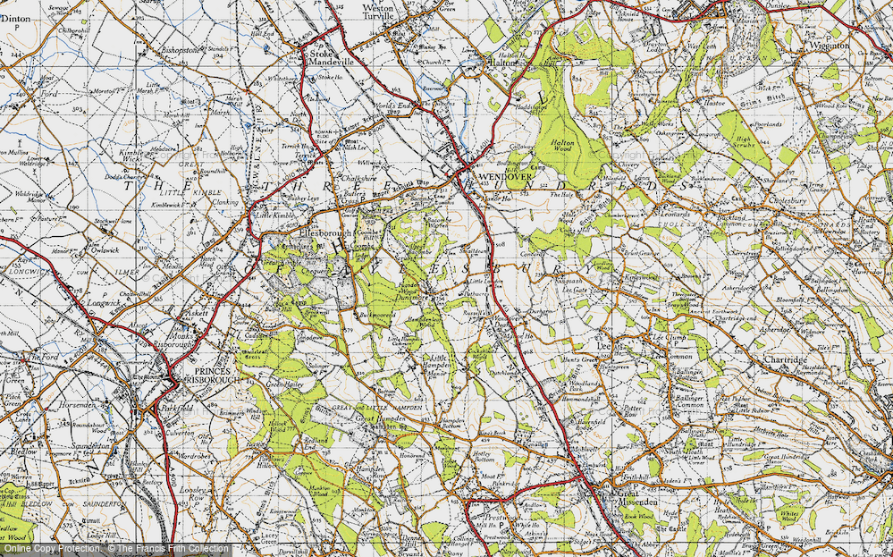 Old Map of Historic Map covering Buckinghamshire in 1947