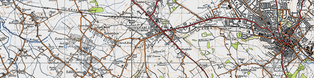 Old map of Dunstable in 1946