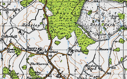Old map of Squitch Ho in 1946