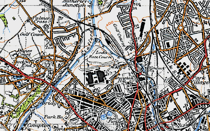 Old map of West Park in 1946