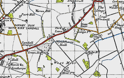 Old map of Wyndthorpe Hall in 1947