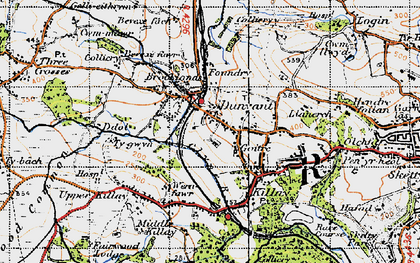 Old map of Dunvant in 1947
