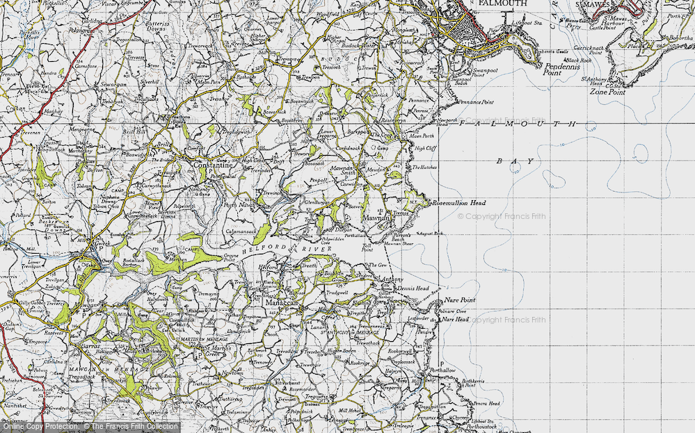 Old Map of Durgan, 1946 in 1946
