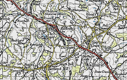 Old map of Durgates in 1940