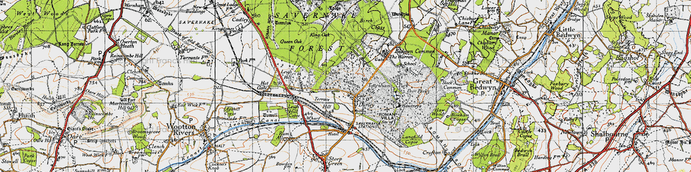 Old map of Durley in 1940