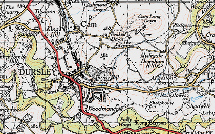 Old map of Dursley in 1946