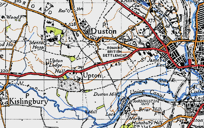 Old map of Duston in 1946