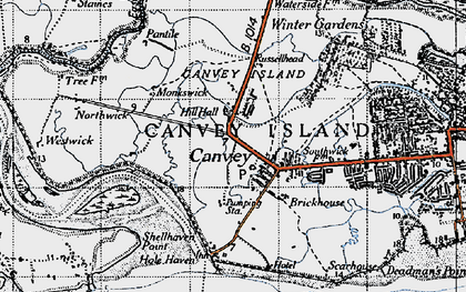 Old map of Coryton in 1946