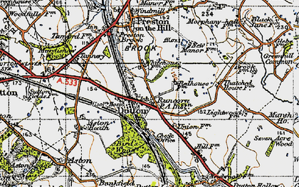 Old map of Dutton in 1947