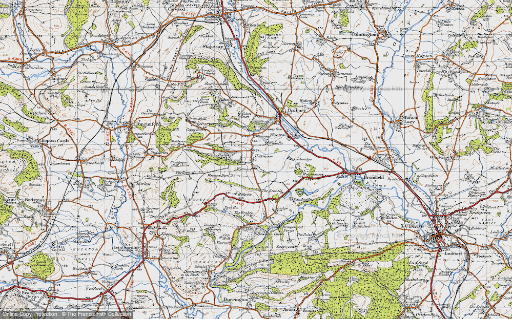 Old Map of Historic Map covering Wetmore in 1947