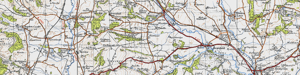 Old map of Wetmore Barn in 1947