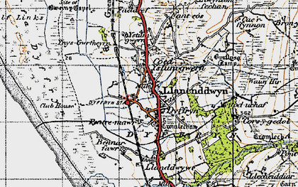 Old map of Dyffryn Ardudwy in 1947
