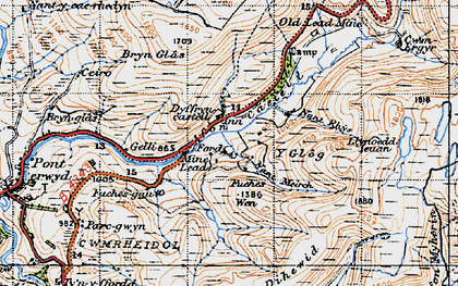 Old map of Banc Nantycreuau in 1947