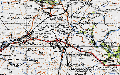 Old map of Banwen in 1947