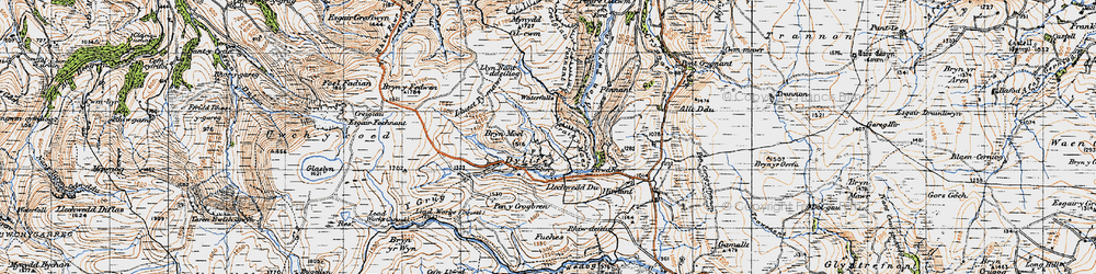 Old map of Dylife in 1947