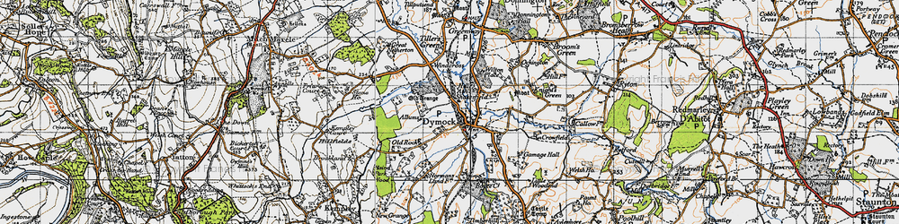 Old map of Dymock in 1947
