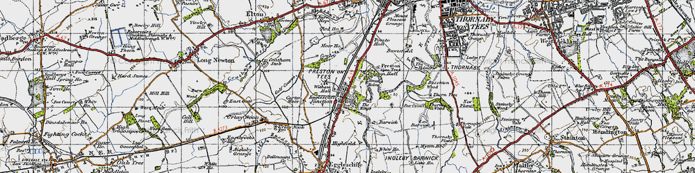 Old map of Witham Hall in 1947