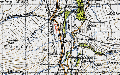 Old map of Ashholme Common in 1947