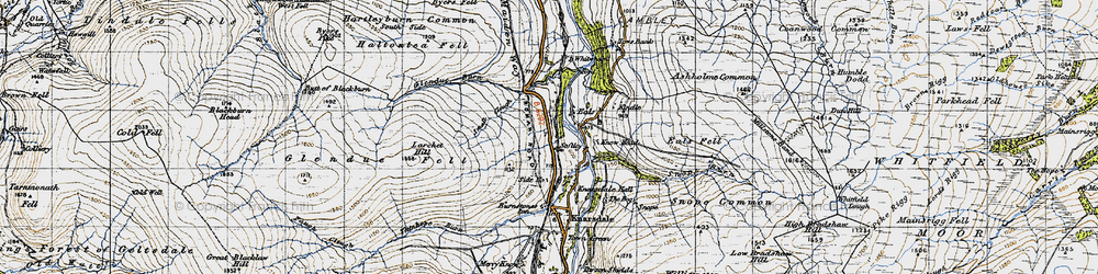Old map of Whitwham in 1947