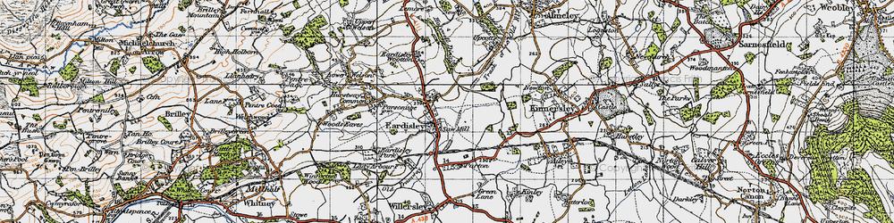 Old map of Eardisley in 1947
