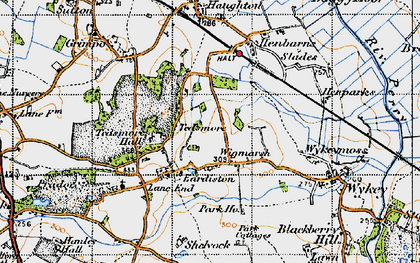 Old map of Wykeymoss in 1947