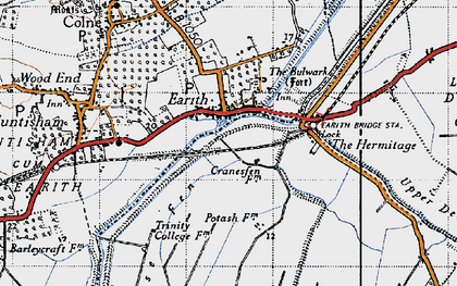 Old map of Earith in 1946