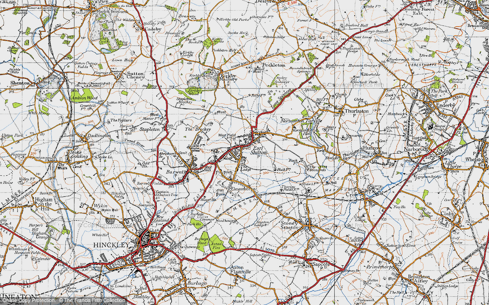 Old Map of Earl Shilton, 1946 in 1946