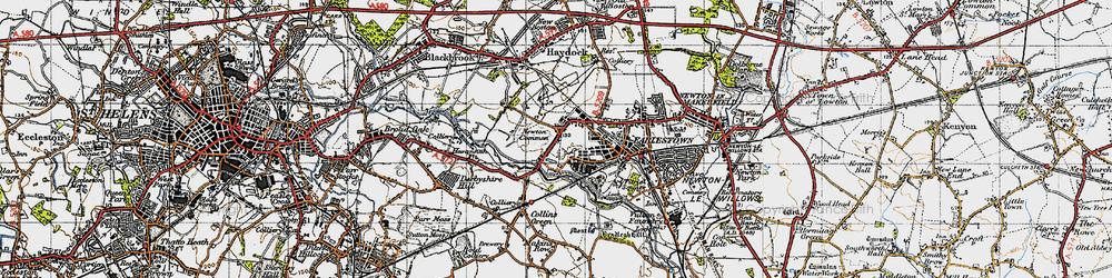 Old map of Earlestown in 1947