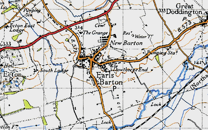 Old map of Earls Barton in 1946
