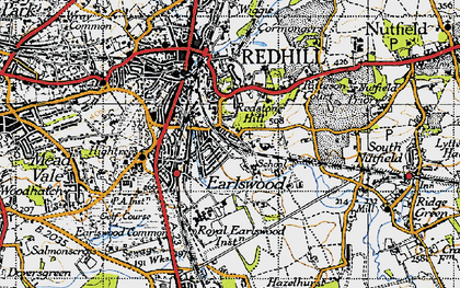 Old map of Earlswood in 1940