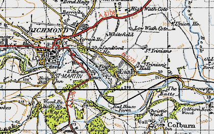 Old map of Easby in 1947