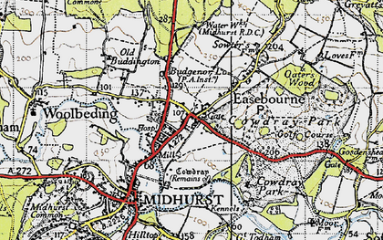 Old map of Easebourne in 1940
