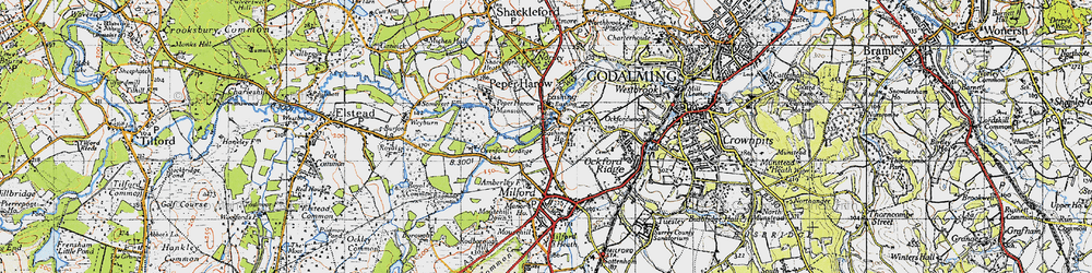 Old map of Eashing in 1940