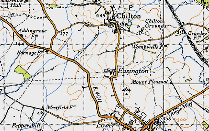 Old map of Easington in 1946